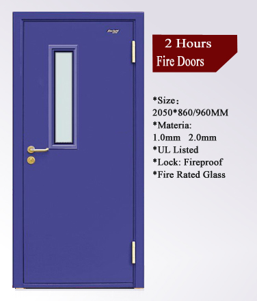Exit apartment 1 hours double leaf flat fire rated door for 1 hr fire rated door