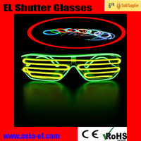 LED shutter party sunglasses flashing EL wire glasses fast blink constant on sharp fashion cool novel