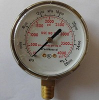 BSP thread oil filled pressure gauge with good quality