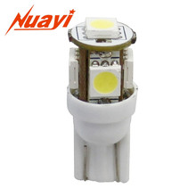 Canbus Auto T10 5 Smd 5050 Led Light Lamp Instruction Bulb