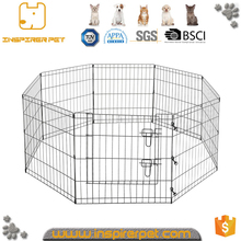 Portable outdoor folding rabbit run pet fence enclosure metal dog fence