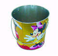 Wholesale dongguan tin bucket, ice bucket with handle, metal tin bucket factory