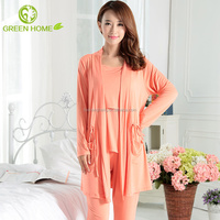 breathable cotton material smooth sleepwear for women pajamas