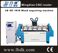 Libo Multi-head cylinder hot-sale cnc wood engraving machine LB-6D-1818