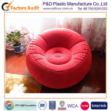 ASTM PVC pink air inflatable big round sofa