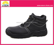 Western cowboy style oil resistant anti-smashing durable high ankle safety shoes