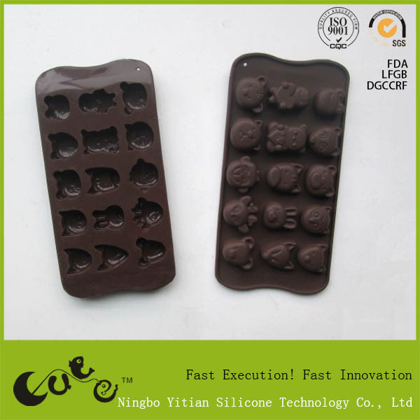 silicone anmail shape chocolate mold