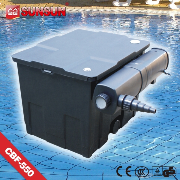 submersible pump Black Filter Box Fish Pond with UV lamp for fish pond