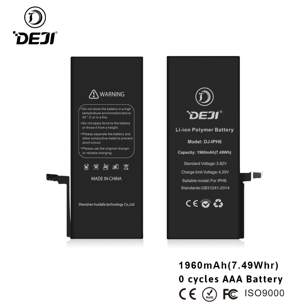 for iphone 6 lipo battery professional factory battery for iPhone 6 1810mah