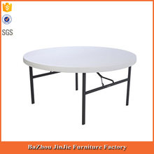 HDPE Cheap Plastic folding round square tables with metal legs