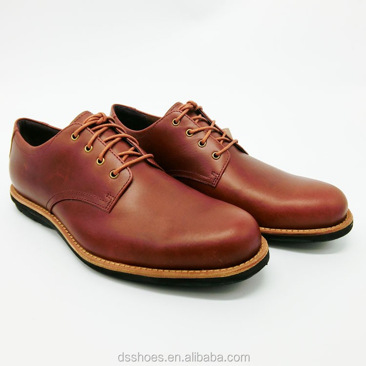 High quality real sheepskin and wool men leather shoes for official