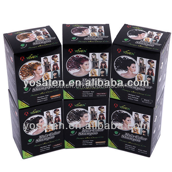New recommended color 100% natural different types hair colors hair dye shampoos