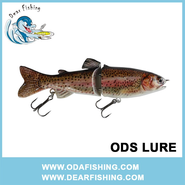 multi jointed fishing lure trout pike fishing tackle low MOQ