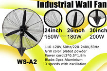 24-30inch big size strong wind industrial stand fan