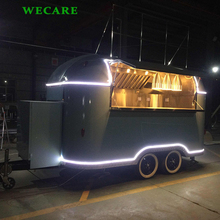 New design mobile vending trailer fast food truck for coffee crepe