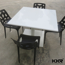 artificial stone dining table set, solid surface wall mounted dining table