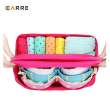 custom travel ladies underwear organizer bra panty bag travelling bra bag