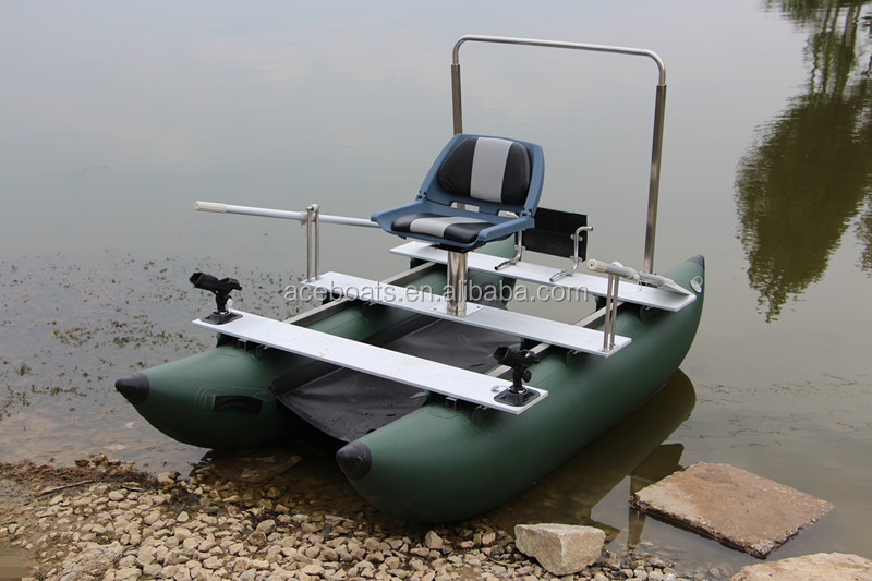 One person inflatable pontoon fishing boats buy one for Two man fishing boat