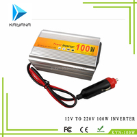 100W DC 12v to 220v AC car power inverter with car battery charger