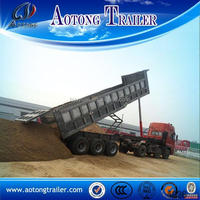 Hydraulic system steel material sand carrier dump trailer for sale