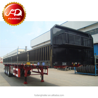 4 Axle flatbed trailer with sidewall / side wall semi-trailer for sale
