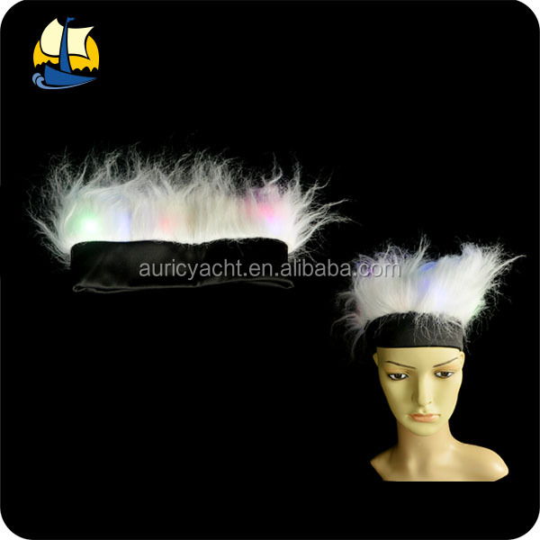 party white cosplay led light up hair wig