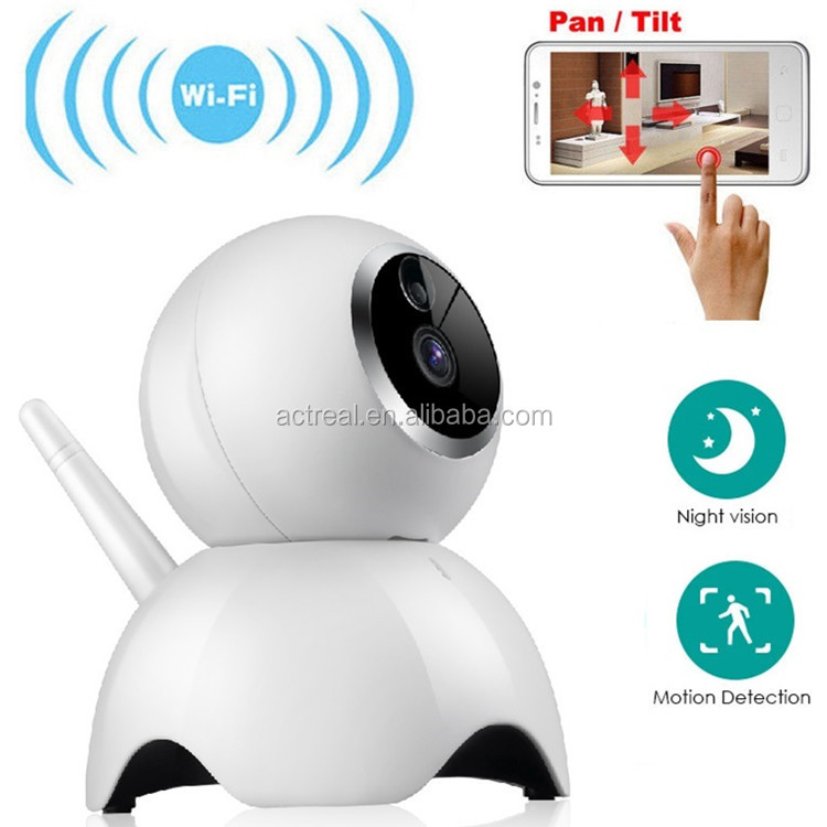 Wholesale Lovely Dog 720P HD Wireless IP Network Camera Wide Angle Pan Tilt Audio IR Home Surveillance Camera Security System