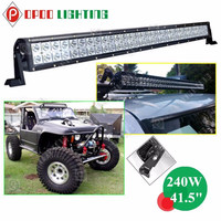 "4X4 jeep wrangler auto parts 41.5"" 240W led driving light bar for car"