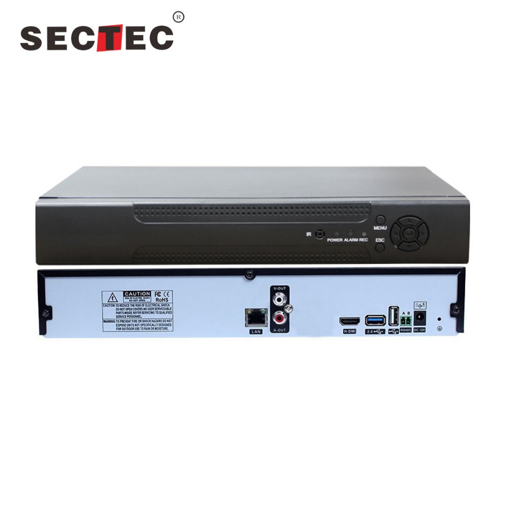 Sectec 1080P Support 3G Network Video h.265 16ch standalone h.264 wifi nvr kits