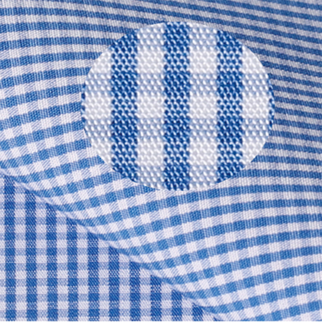 Stock service cotton plaid shirt fabric blue and white