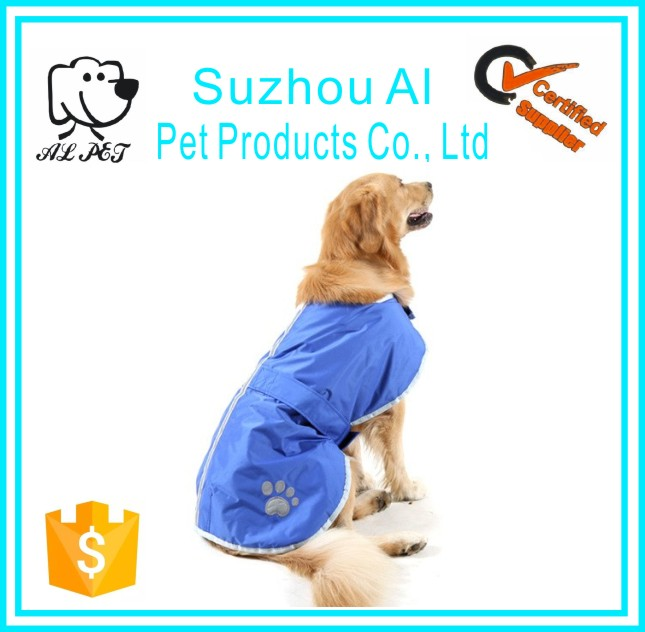 Reflective Strip and Paw Print Winter Warm Jacket Waterproof Pet Dog Coat