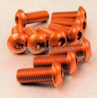 red anodized aluminum cap screw from china screw manufacturer