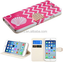 Flip PU Leather Wallet Stand Case Cover For Iphone 4/4s with Card Holder