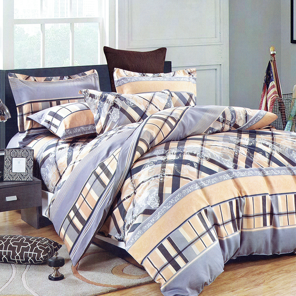 What Textile 100% polyester fabrics high quality printing bedding set for home