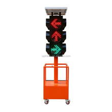 Optraffic ODM Road Construction Portable Warning Light LED Solar Traffic Signal with Pole