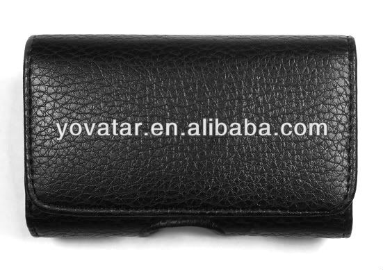 BLACK LEATHER POUCH BELT CLIP HOLSTER CASE FOR APPLE IPHONE 5 5G