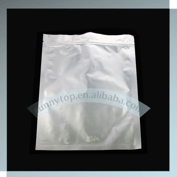 silver aluminum foil vacuum bag heat sealed foil bag