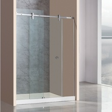 toughened glass frameless bathroom door