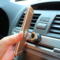 Universal mini mobile phone accessory magnetic phone holder stainelss car phone holder