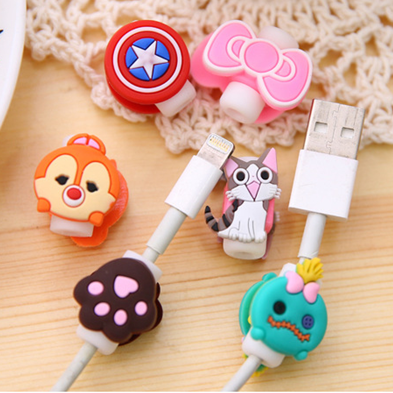 Colorful cute Cable Wire Organizer Clip Tidy USB Charger Cord Holder cable clip