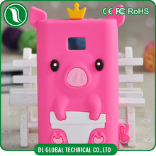 Most popular cute cartoon crown pig silicone case for LG L3 case
