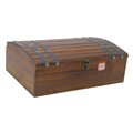 retro Ancient Hand Workmanship Wooden Painting wine box