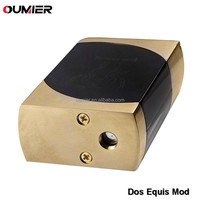 e cig mechanical box mod Top side designed button switch Dos Equis box mod