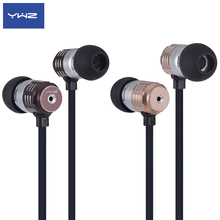 YWZ super bass high quality stereo professional metal in-ear headphone