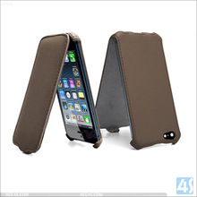 Top open heat setting flip leather case for iphone 6 6s