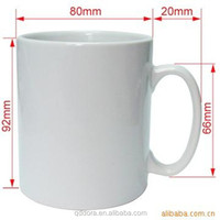 White Ceramic Mug With Orca Coatings/High Quality Sublimation Ceramic Mug