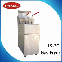 Free Standing Continuous Gas Fryer With Temperature Control