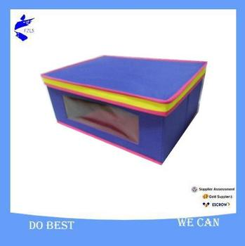 storage box with lid and PVC window S#