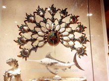 high grade peacock seashell home decoration wall hanging for wall decoration