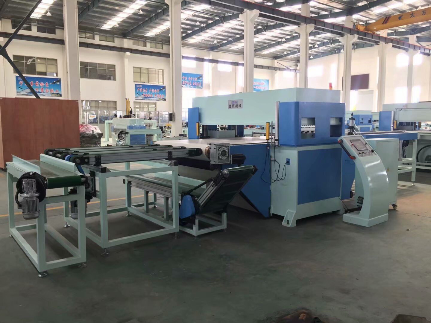 full automatic conveyer belt feeding PLC die cutting machine